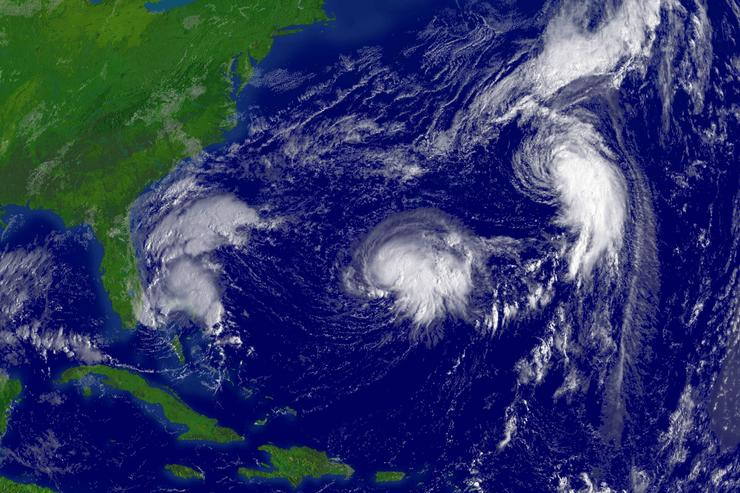 Three Tropical Storms In The Atlantic Ocean