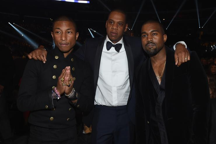 Kanye West, Jay Z & Pharrell at Grammys