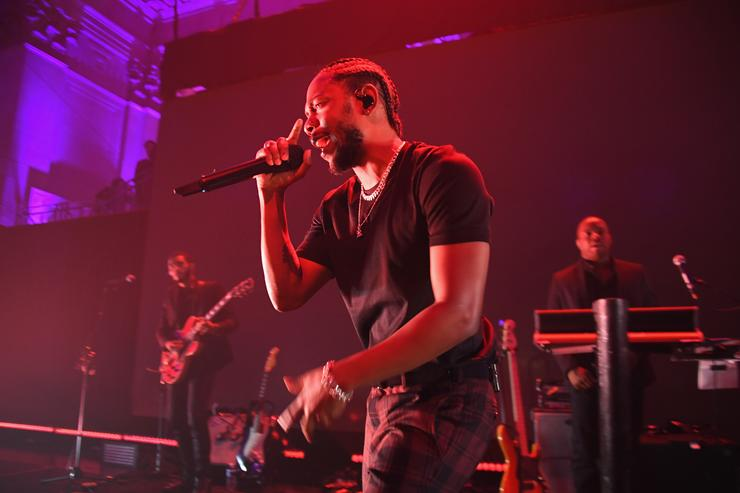 Kendrick Lamar performing at the Diamond Ball