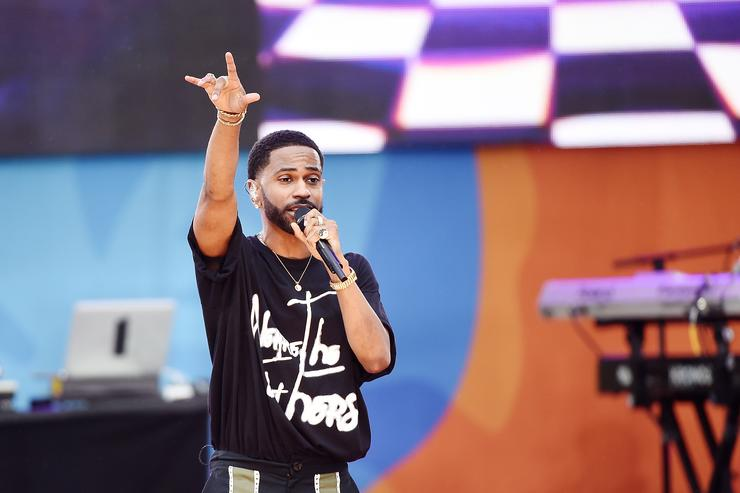 Big Sean performs at Good Morning America