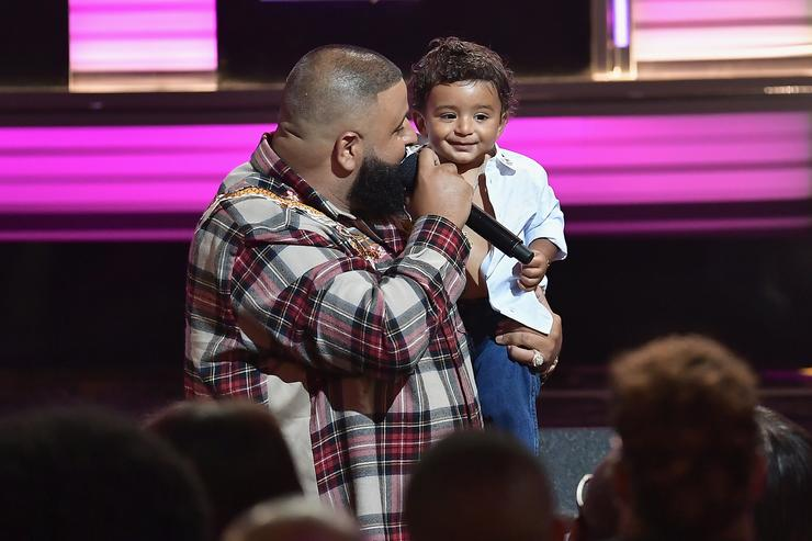 DJ Khaled and Asahd Khaled at the BET Hip-Hop Awards 2017