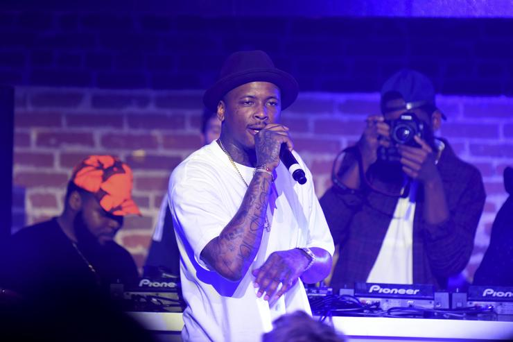 YG performing at adidas event