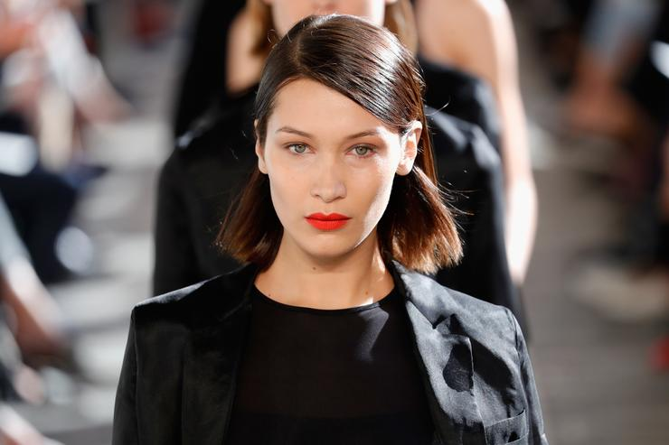 Bella Hadid at Milan Fashion Week