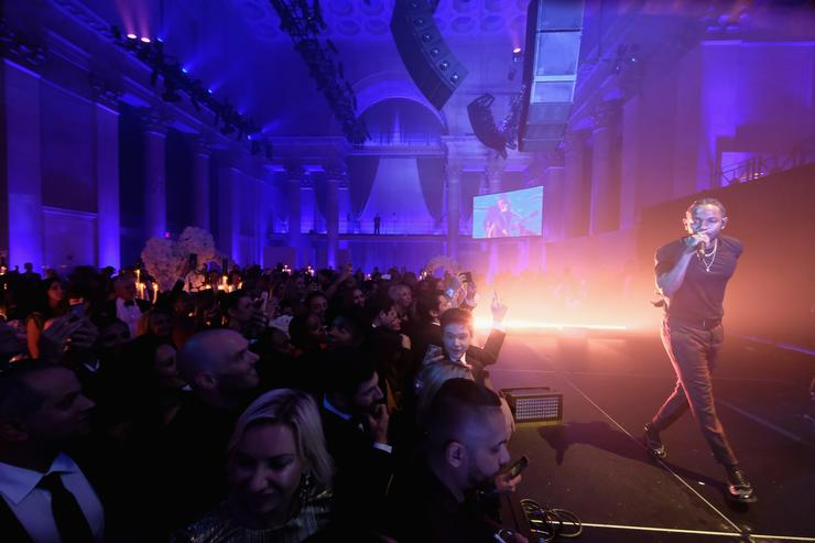 Kendrick Lamar Rihanna's 3rd Annual Diamond Ball Benefitting The Clara Lionel Foundation at Cipriani Wall Street - Inside