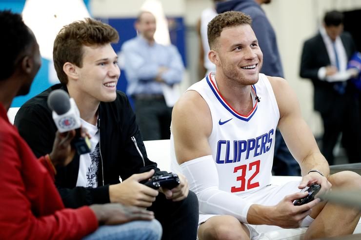 Blake at Clippers Media day