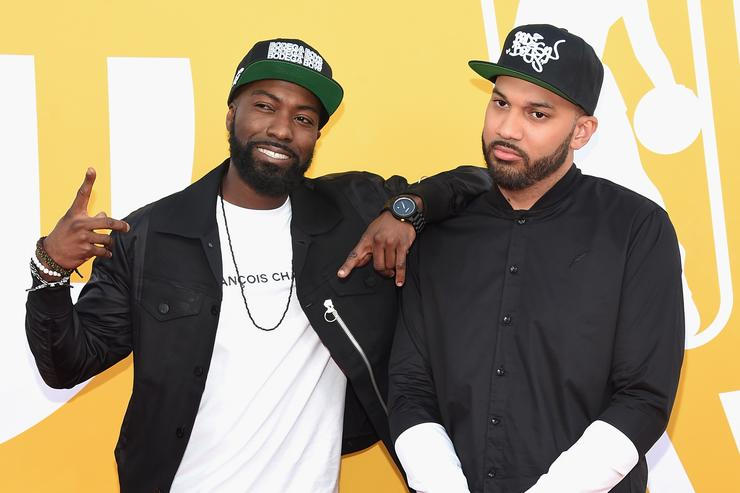 Desus and The Kid Mero attend the 2017 NBA Awards live on TNT on June 26, 2017 in New York, New York