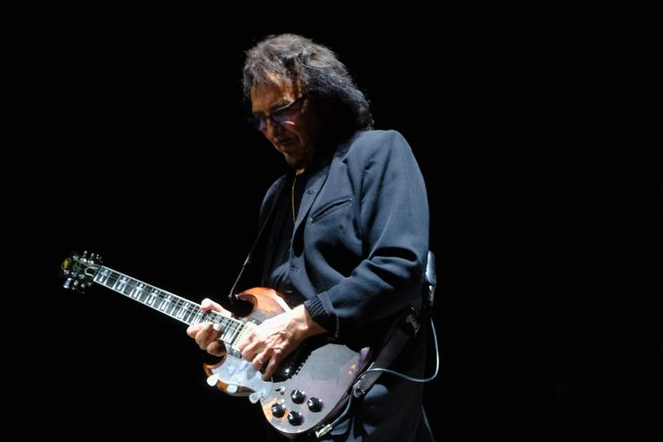 Tony Iommi of Black Sabbath performs at Ozzfest 2016 at San Manuel Amphitheater on September 24, 2016 in Los Angeles, California