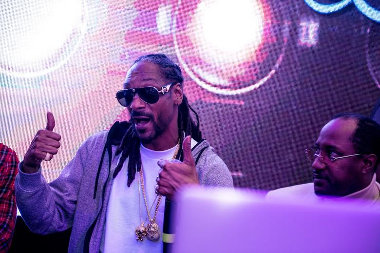 DJ Snoopadelic A.K.A Snoop Dogg attends Bounce Sporting Club Presents The VIP Lounge At MAXIM's All Star Party on February 12, 2016 in Toronto, Canada