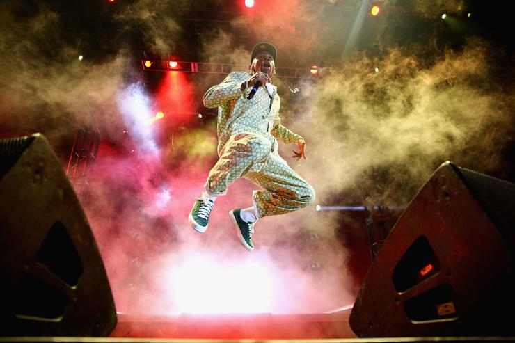 Tyler, The Creator performs on the Camp Stage during day 1 of Camp Flog Gnaw Carnival 2017 at Exposition Park on October 28, 2017 in Los Angeles, California