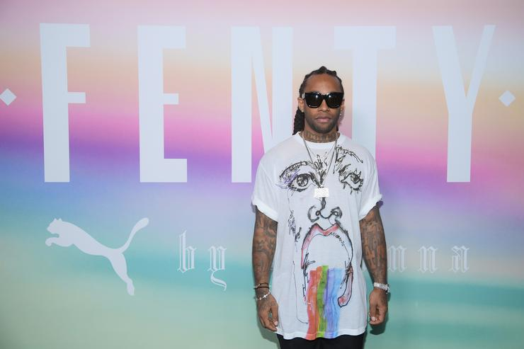Rapper Ty Dolla Sign attends the FENTY PUMA by Rihanna Spring/Summer 2018 Collection at Park Avenue Armory on September 10, 2017 in New York City