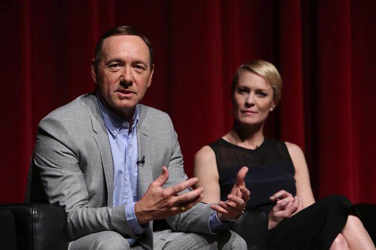 Actors Kevin Spacey and Robin Wright attend Netflix's 'House of Cards' For Your Consideration Q&A on April 25, 2013 at the Leonard H. Goldenson Theatre in North Hollywood, California