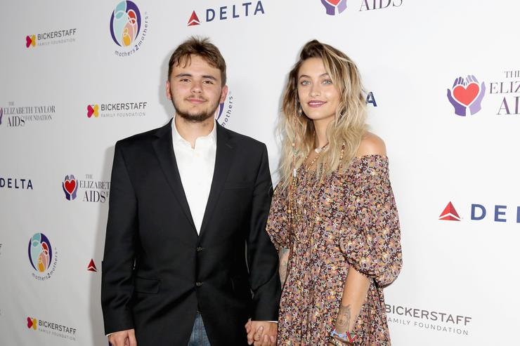 Paris and Blanket at aids foundation dinner