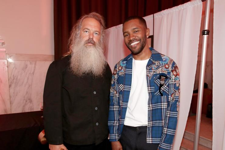 Legendary Genius Award winner Rick Rubin (L) and Frank Ocean attend Spotify's Inaugural Secret Genius Awards hosted by Lizzo at Vibiana on November 1, 2017 in Los Angeles, California