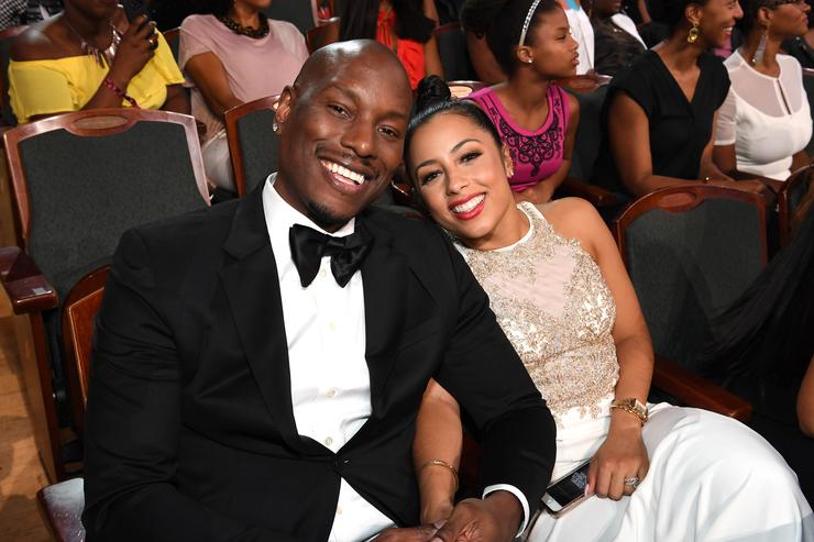 Tyrese and wife at Black girls rock event