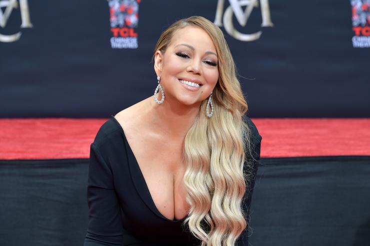 Mariah Carey is honored with a Hand and Footprint Ceremony at TCL Chinese Theatre on November 1, 2017 in Hollywood, California
