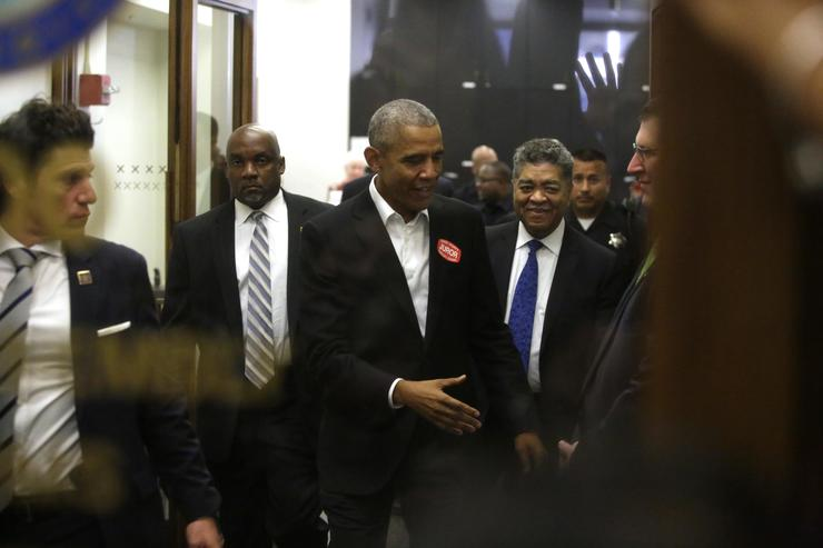 Barack Obama at Jury Duty in Chicago