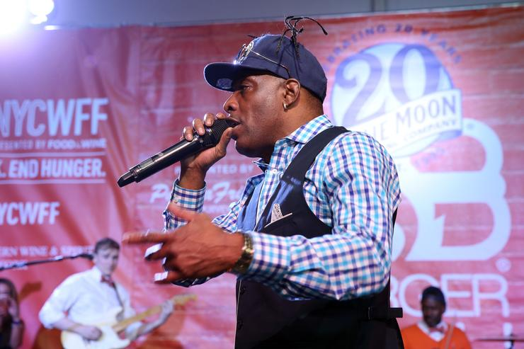 Coolio performs on stage during the Blue Moon Burger Bash presented by Pat LaFrieda Meats hosted by Rachael Ray - Food Network & Cooking Channel New York City Wine & Food Festival presented by FOOD & WINE at Pier 92 on October 16, 2015 in New York City