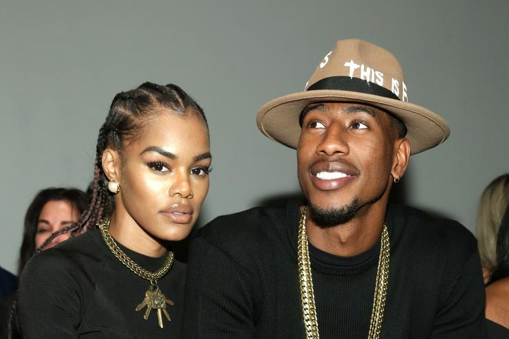 Teyana taylor and husband at NYFW 2016