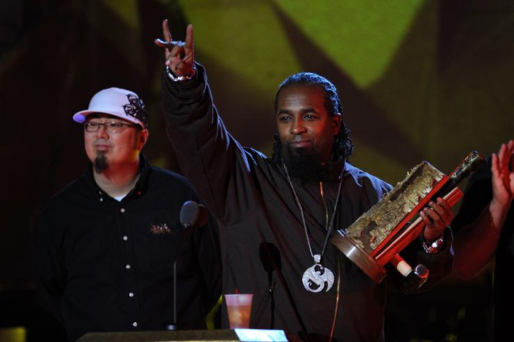 Recording artist Tech N9ne appears onstage at the 2009 mtvU Woodie Awards at Roseland Ballroom on November 18, 2009 in New York City
