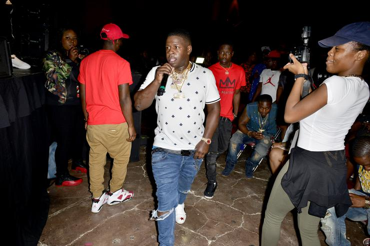 Blac Youngsta onstage performs during the Kings of the Streets Tour at James L. Knight Center on September 17, 2016 in Miami, Florida