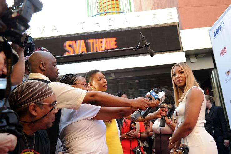 Ashanti attends the 'Think Like A Man Too' premiere during the 2014 American Black Film Festival at SVA Theater on June 19, 2014 in New York City