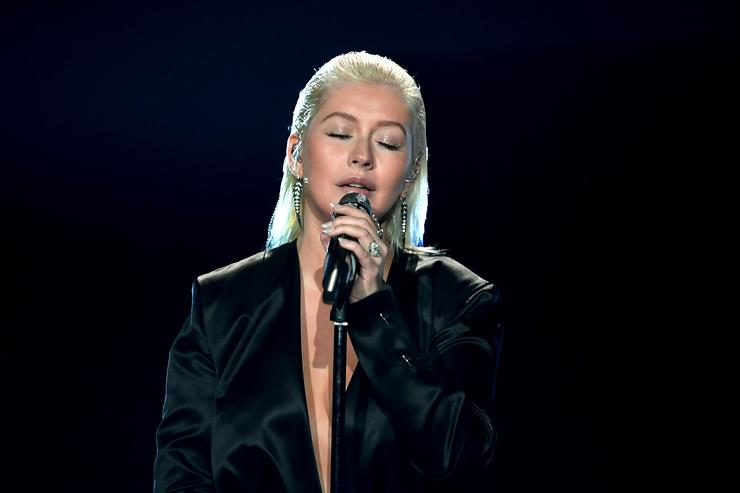 Christina Aguilera at 2017 amas