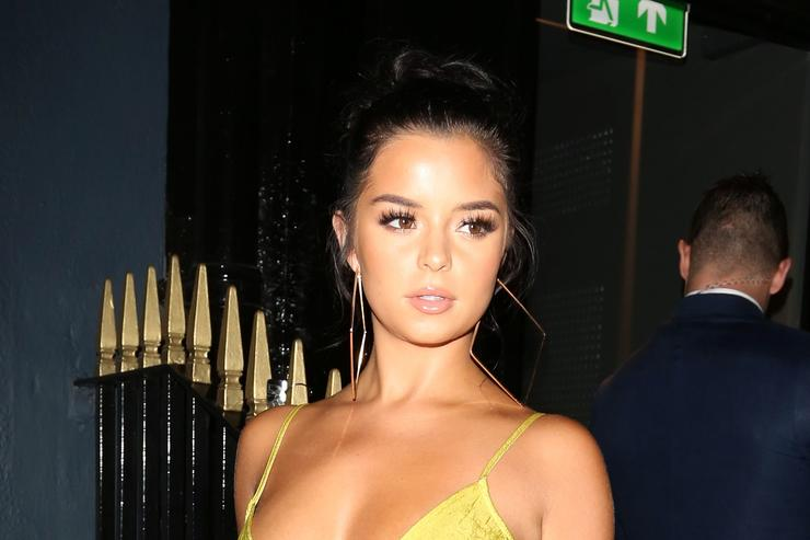 Demi Rose arriving at MNKY HSE on August 16, 2017 in London, England