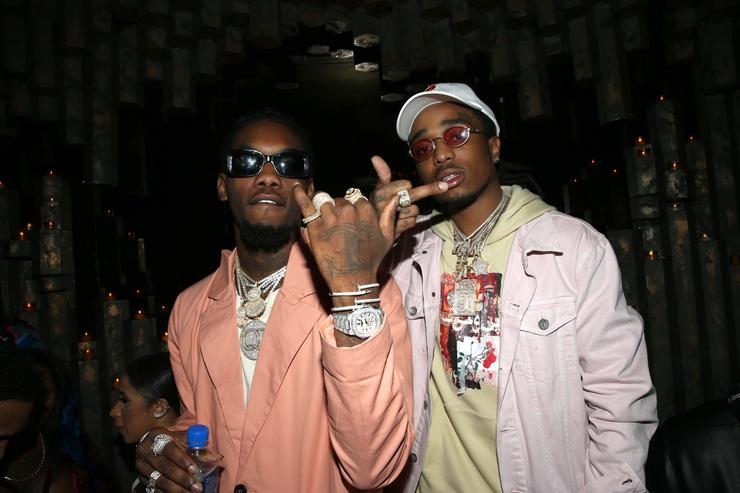 OffSet (L) and Quavo of Migos attend VIP Event Hosted By Migos on January 26, 2017 in New York City