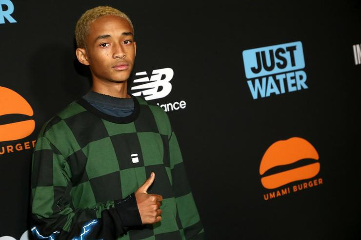 Actor Jaden Smith attends the Umami Burger x Jaden Smith Artist Series Launch Event at The Grove on October 11, 2017 in Los Angeles, California