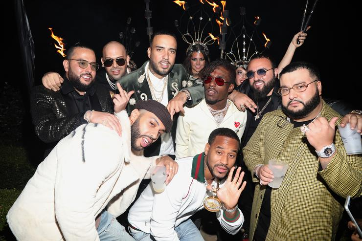 French Montana celebrates with friends at the CIROC French Vanilla Birthday Celebration for French Montana on November 9, 2017 in Beverly Hills, California