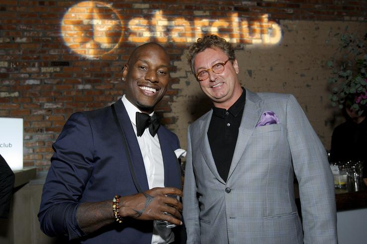 Host Tyrese Gibson (L) and Founder and CEO of StarClub Bernhard Fritsch attend StarClub Inc.'s Private Party hosted by Tyrese Gibson on Tuesday, November 11, 2014 in Santa Monica, California