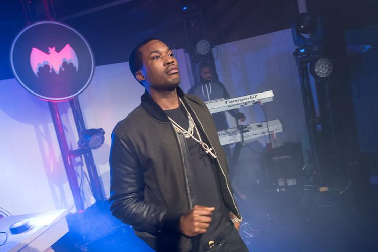 Meek Mills performs during the Bacardi untamable house party on November 20, 2015 in Atlanta, Georgia