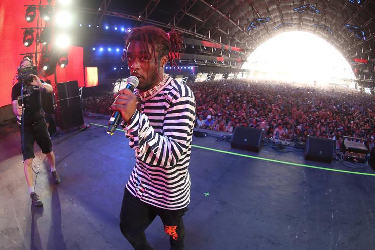 Lil Uzi Vert performs in the Sahara Tent during day 3 (Weekend 2) of the 2017 Coachella Valley Music & Arts Festival (Weekend 2) at the Empire Polo Club on April 23, 2017 in Indio, California.