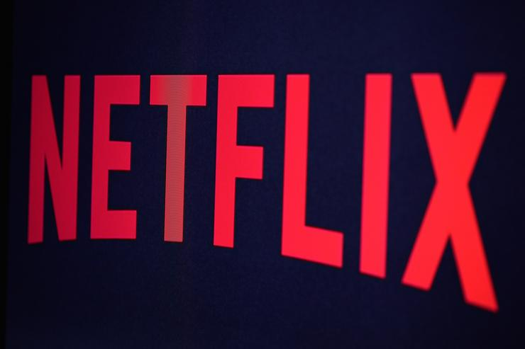 In this photo illustration the Netflix logo is seen on September 19, 2014 in Paris, France. Netflix September 15 launched service in France, the first of six European countries planned in the coming months