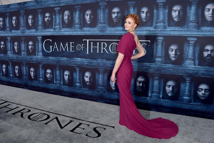 Actress Sophie Turner attends the premiere of HBO's 'Game Of Thrones' Season 6 at TCL Chinese Theatre on April 10, 2016 in Hollywood, California