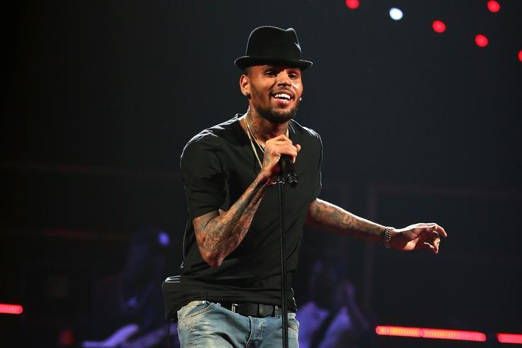 Singer Chris Brown performs onstage during the iHeartRadio Music Festival at the MGM Grand Garden Arena on September 20, 2013 in Las Vegas, Nevada