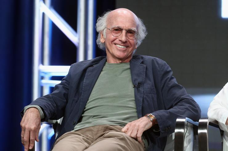 Creator  executive producer Larry David of 'Curb Your Enthusiam&#039 speaks onstage during the HBO portion of the 2017 Summer Television Critics Association Press Tour at The Beverly Hilton Hotel
