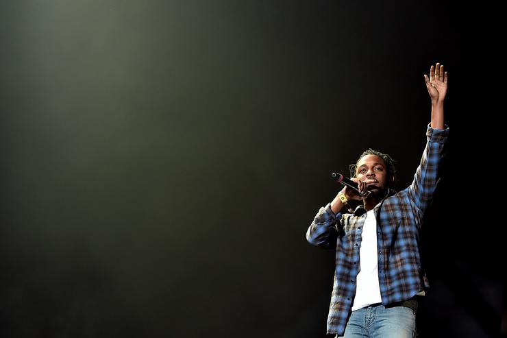 Rapper Kendrick Lamar performs onstage during day 2 of the 2016 Coachella Valley Music & Arts Festival Weekend 2 at the Empire Polo Club on April 23, 2016 in Indio, California