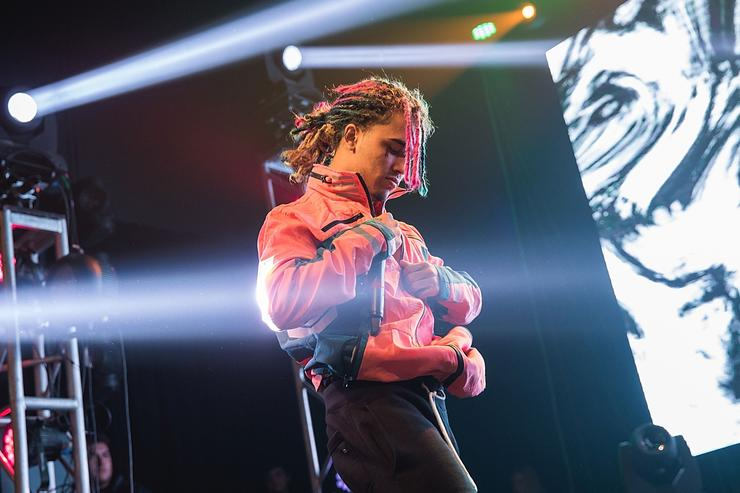 Rapper Lil Pump performs in concert at Emo's on November 24, 2017 in Austin, Texas