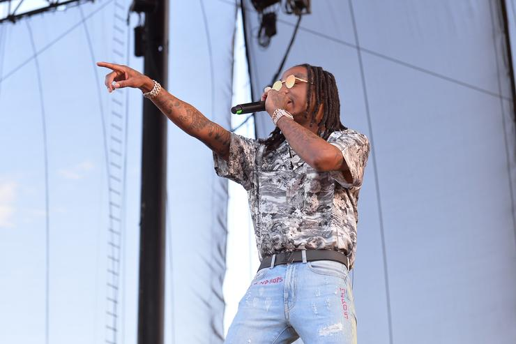 Quavo of Migos performs onstage during the Daytime Village Presented by Capital One at the 2017 HeartRadio Music Festival at the Las Vegas Village on September 23, 2017 in Las Vegas, Nevada