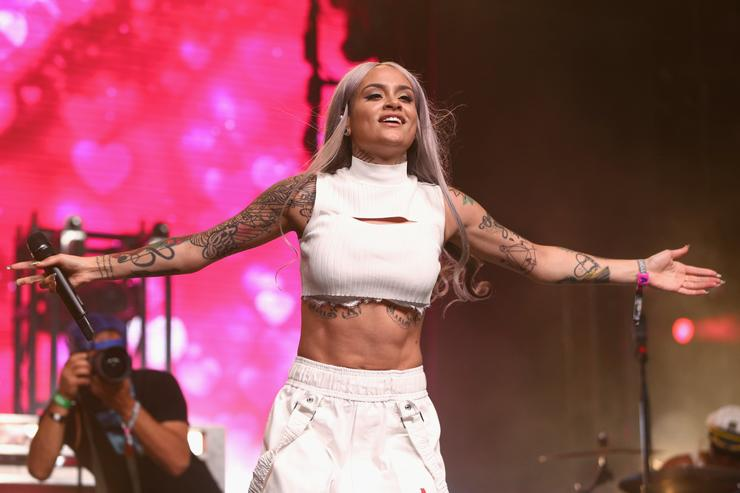 Singer Kehlani performs at the Mojave Tent during day 3 of the 2017 Coachella Valley Music & Arts Festival (Weekend 2) at the Empire Polo Club on April 23, 2017 in Indio, California