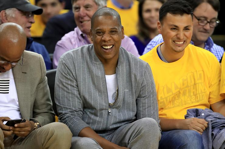 Recording artist Jay-Z attends Game 1 of the 2017 NBA Finals at ORACLE Arena on June 1, 2017 in Oakland, California