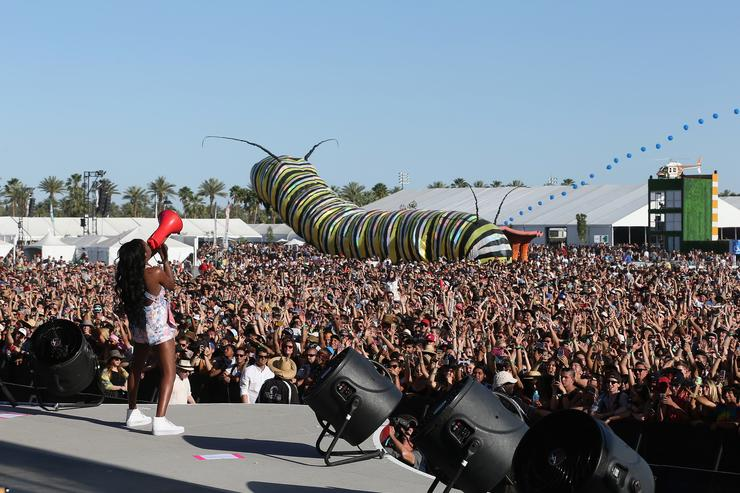 Rapper Azealia Banks performs onstage during day 1 of the 2015 Coachella Valley Music And Arts Festival (Weekend 2) at The Empire Polo Club on April 17, 2015 in Indio, California