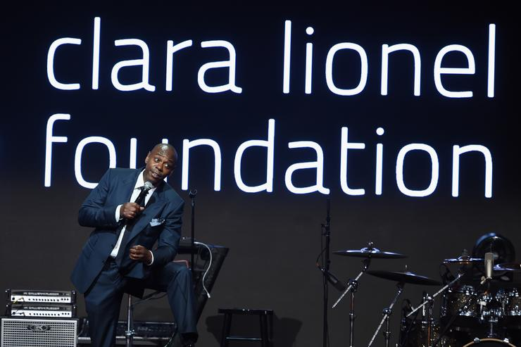 Dave Chapelle speaks onstage at Rihanna's 3rd Annual Diamond Ball Benefitting The Clara Lionel Foundation at Cipriani Wall Street on September 14, 2017 in New York City