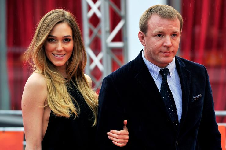 Director Guy Rtchie and girlfriend Jacqui Ainsley attend the UK premiere of 'African Cats' in aid of Tusk at BFI Southbank on April 25, 2012 in London, England