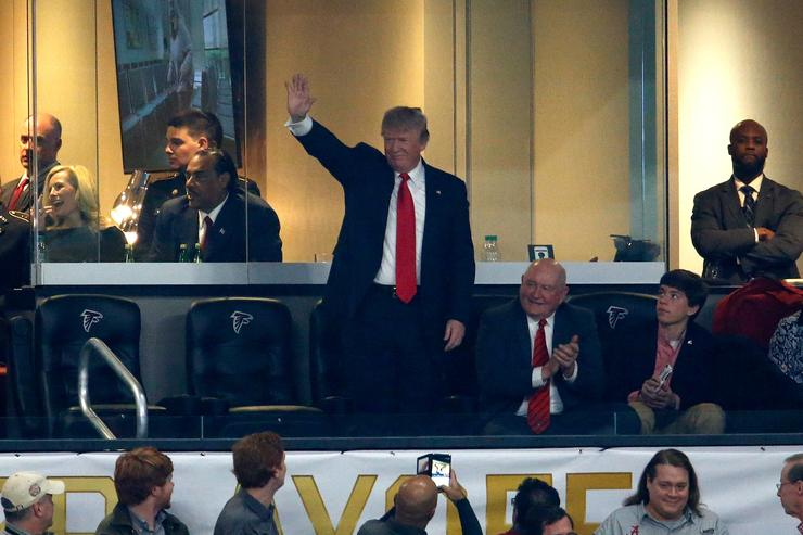 Donald Trump at NAtional Championship game