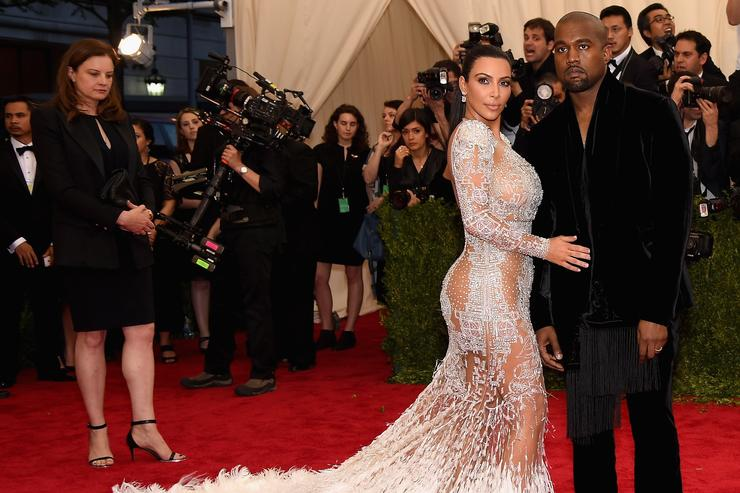 Kim Kardashian West (L) and Kanye West attend the 'China: Through The Looking Glass' Costume Institute Benefit Gala at the Metropolitan Museum of Art on May 4, 2015 in New York City