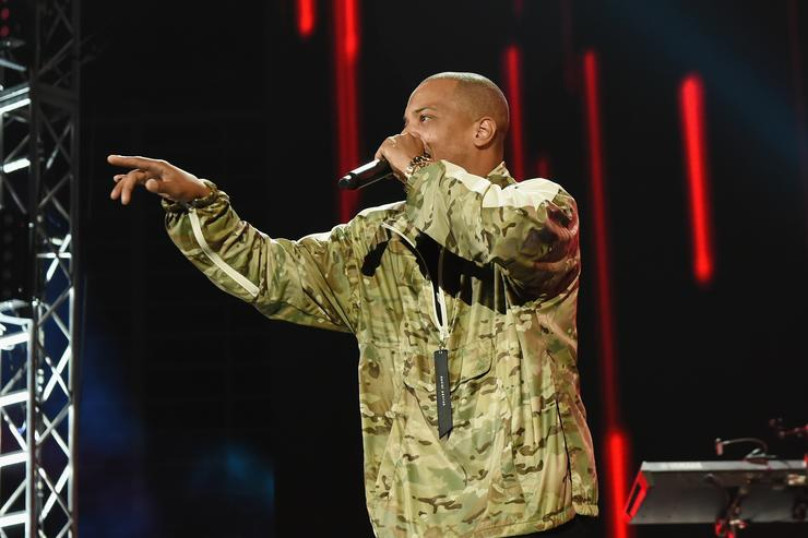 In this handout photo provided by One Voice: Somos Live!, T.I. performs onstage at One Voice: Somos Live! A Concert For Disaster Relief at Marlins Park on October 14, 2017 in Miami, Florida
