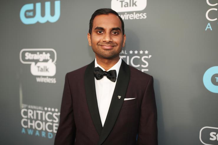 Actor Aziz Ansari attends The 23rd Annual Critics' Choice Awards at Barker Hangar on January 11, 2018 in Santa Monica, California