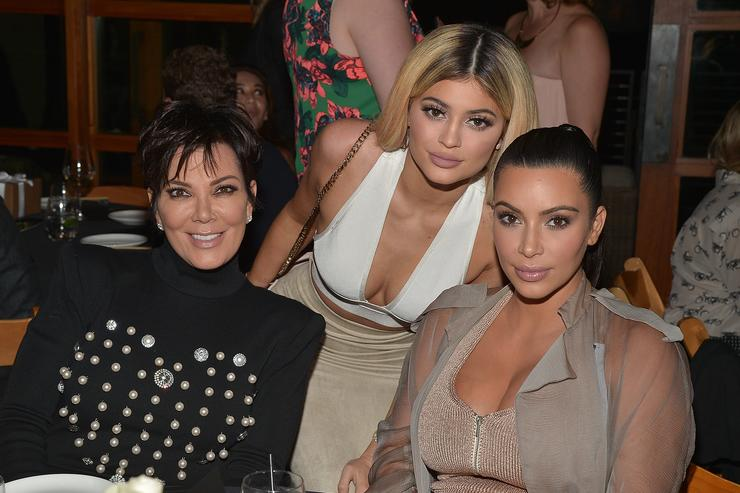Kim Kardashian West, Kylie Jenner, Khloe Kardashian and Kris Jenner, Kylie Jenner and Kim Kardashian West host a dinner and preview of their new apps launching soon at Nobu Malibu on September 1, 2015 in Malibu, California